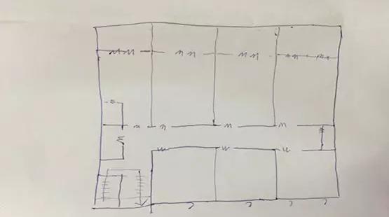 量房手绘立面图